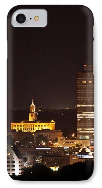 Nashville Cityscape 5 Phone Case by Douglas Barnett