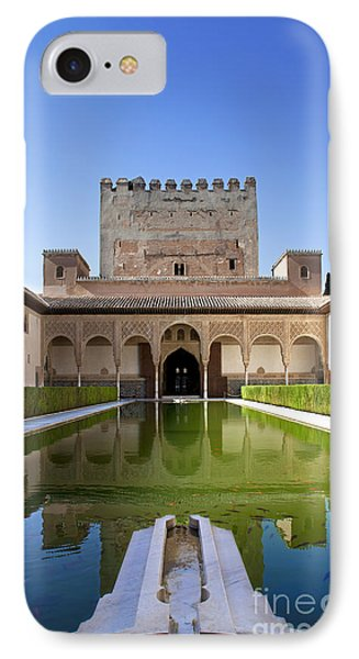 Nasrid Palace From Fish Pond IPhone Case by Jane Rix
