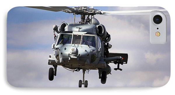 Navy Pilots In A Sh-60f Seahawk Conduct IPhone Case by Michael Wood