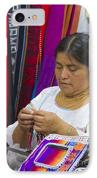 Needleworking Lady Phone Case by Heiko Koehrer-Wagner