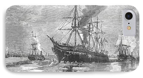 New York Harbor: Ice, 1881 Phone Case by Granger