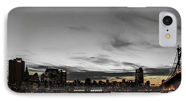 New Yorks Skyline At Night Colorkey Phone Case by Hannes Cmarits