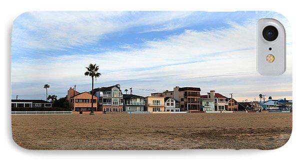 Newport Beach Oceanfront Houses Phone Case by Paul Velgos