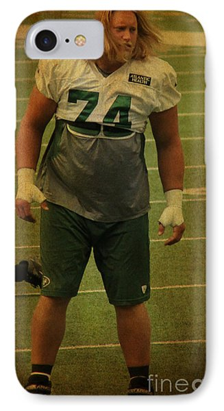 Nick Mangold - The New York Jets IPhone Case by Lee Dos Santos
