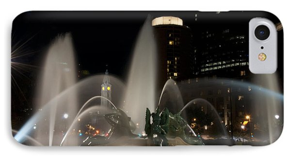 Night View Of Swann Fountain Phone Case by Bill Cannon