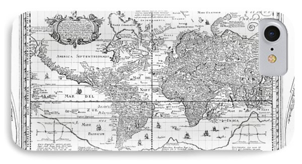 Nova Totius Terrarum Orbis Geographica Ac Hydrographica Tabula Phone Case by Dutch School