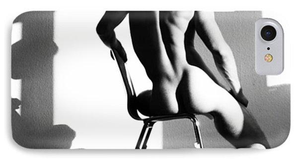 Nude Man On Chair Phone Case by Sumit Mehndiratta