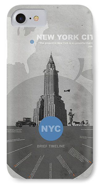 Nyc Poster IPhone 7 Case by Naxart Studio