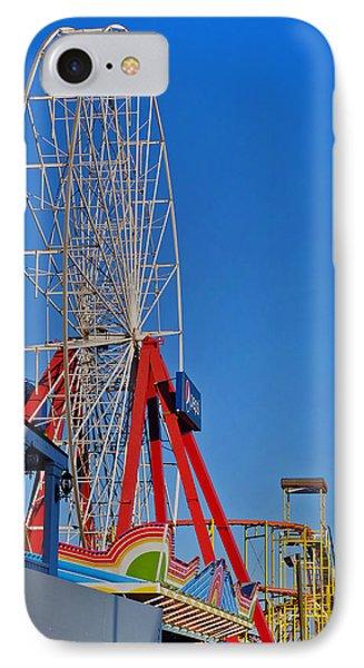 Oc Winter Ferris Wheel Phone Case by Skip Willits