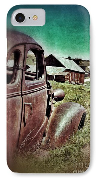 Old Car And Ghost Town Phone Case by Jill Battaglia