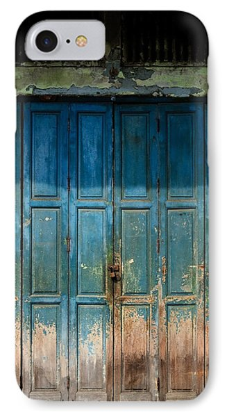 old door in China town Phone Case by Setsiri Silapasuwanchai