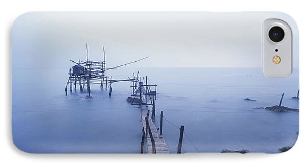 Old Fishing Platform At Dusk Phone Case by Axiom Photographic
