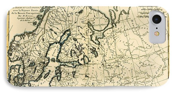 Old Map Of Northern Europe Phone Case by Guillaume Raynal