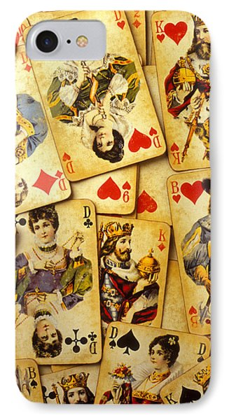 Old Playing Cards Phone Case by Garry Gay