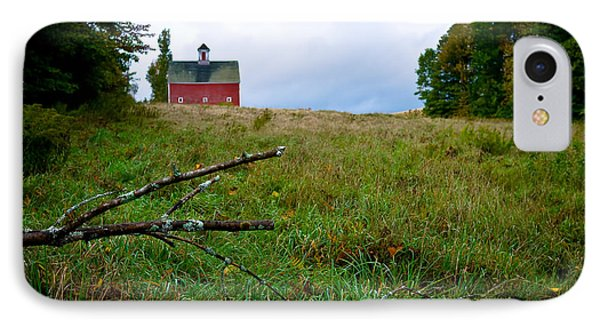 Old Red Barn On The Hill Phone Case by Edward Fielding