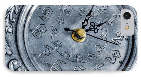Old Silver Clock Phone Case by Carlos Caetano