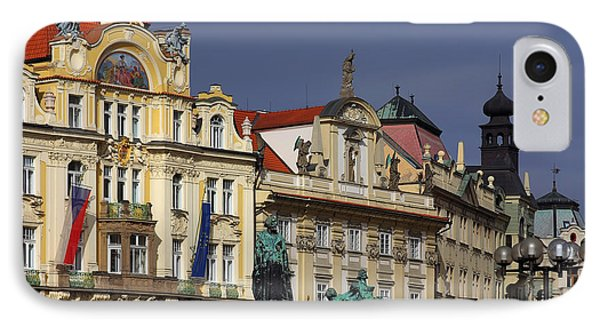 Old Town Square In Prague Phone Case by Christine Till
