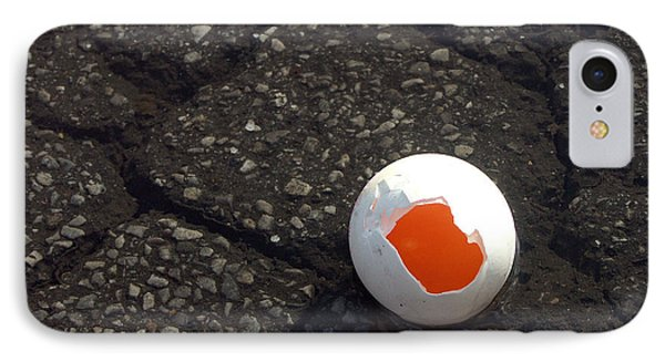 Open Broken Egg - View From Above Phone Case by Matthias Hauser