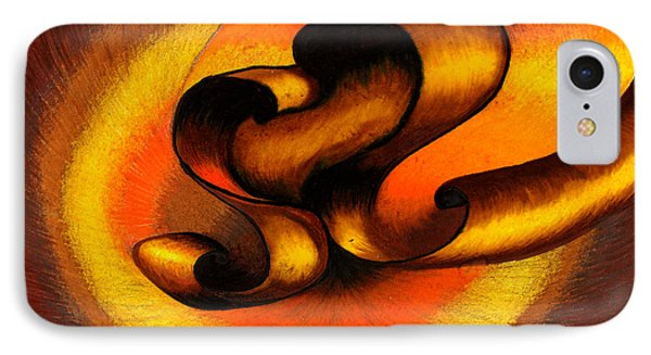 Original Abstract Orange Phone Case by Fanny Diaz