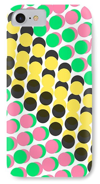 Overlayed Dots IPhone Case by Louisa Knight
