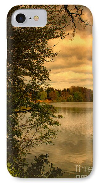 Overlooking The Lake Phone Case by Jutta Maria Pusl