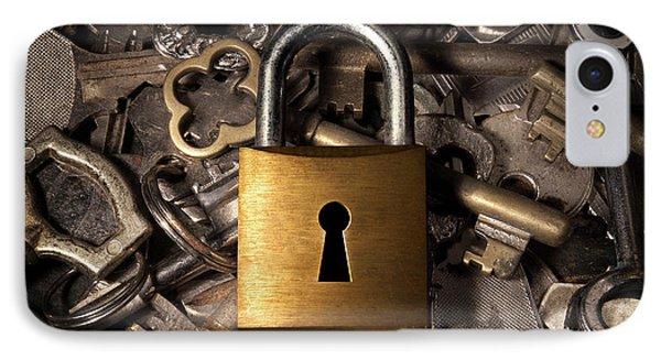 Padlock Over Keys Phone Case by Carlos Caetano