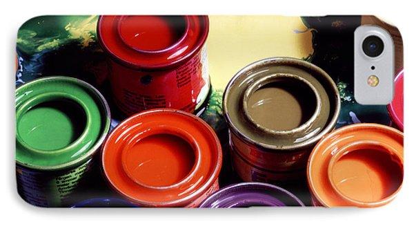 Paint Pots IPhone Case by Victor De Schwanberg