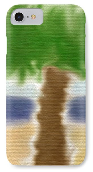 Palm Tree IPhone Case by Gina Lee Manley