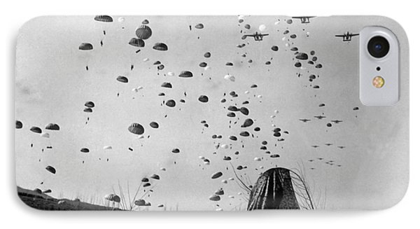 Paratroopers Jump From From C-119s Phone Case by Stocktrek Images