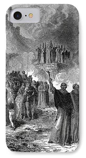 Paris: Burning Of Heretics Phone Case by Granger