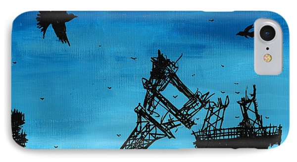 Paris Is Falling Down Phone Case by Jera Sky