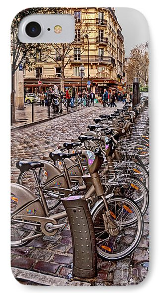 Paris Wheels For Rent Phone Case by Bob and Nancy Kendrick
