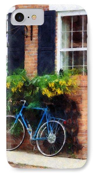 Parked Bicycle Phone Case by Susan Savad