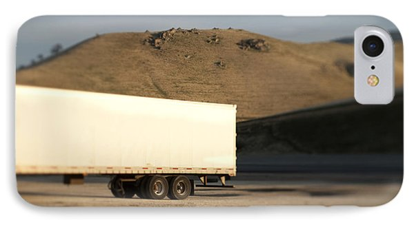 Parked Semi Trailer IPhone Case by Eddy Joaquim