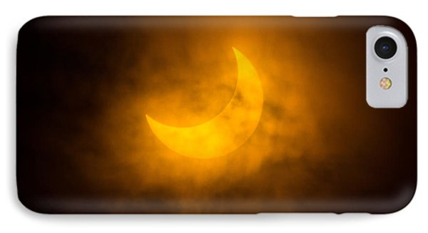Partial Solar Eclipse Through Fog Phone Case by Greg Nyquist