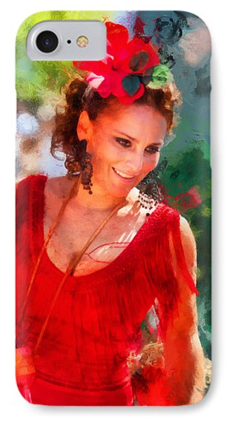 Passionate Gypsy Blood. Flamenco Dance Phone Case by Jenny Rainbow