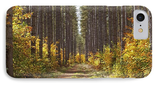 Path Into The Forest In Autumn Sault Phone Case by Susan Dykstra