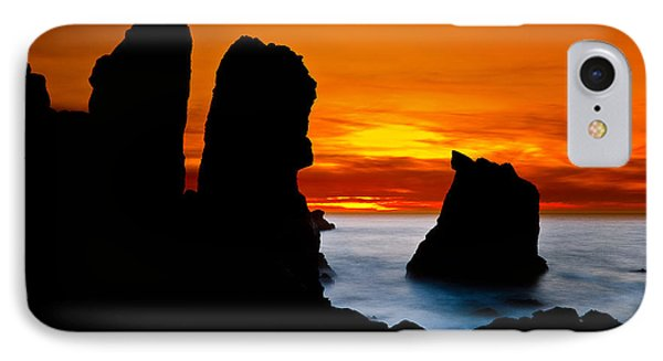 Patrick's Point Silhouette Phone Case by Greg Nyquist