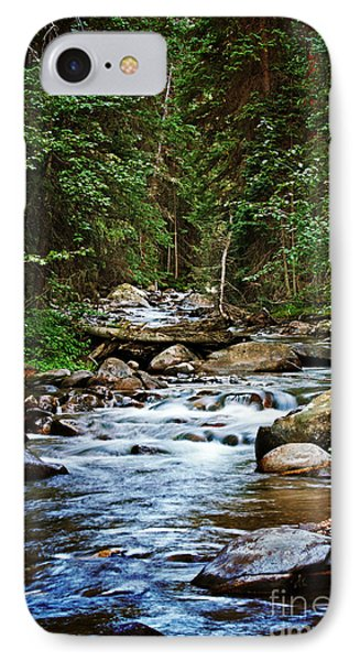Peaceful Mountain River Phone Case by Lisa Holmgreen