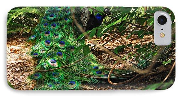 Peacock Hiding Phone Case by Kaye Menner