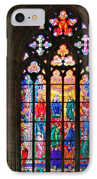 Pentecost Window - St. Vitus Cathedral Prague Phone Case by Christine Till