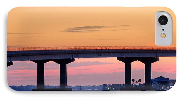 Perdido Bridge Sunrise Closeup Phone Case by Michael Thomas