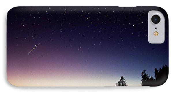 Perseid Meteor Trail Phone Case by David Nunuk