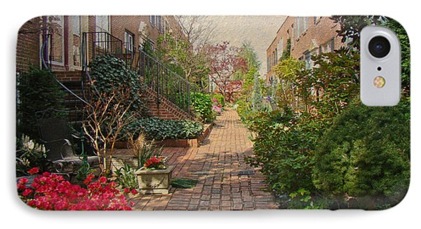 Philadelphia Courtyard - Symphony Of Springtime Gardens IPhone Case by Mother Nature