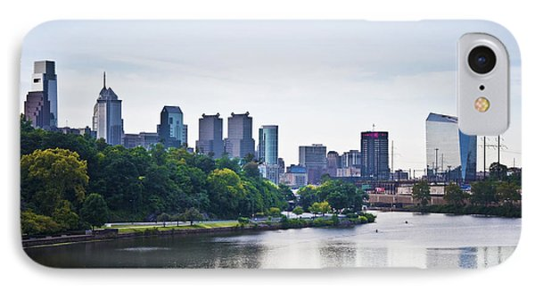 Philadelphia View From The Girard Avenue Bridge Phone Case by Bill Cannon