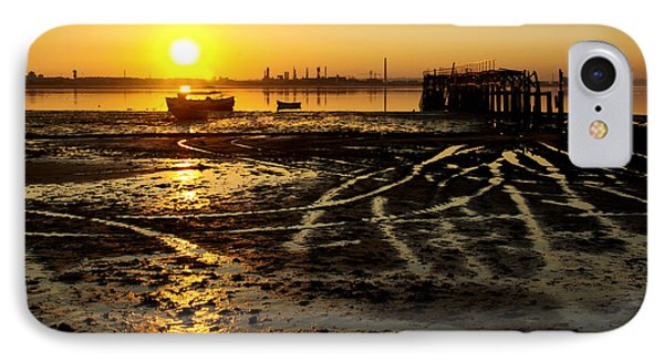 Pier At Sunset Phone Case by Carlos Caetano