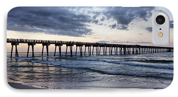 Pier In The Evening Phone Case by Sandy Keeton