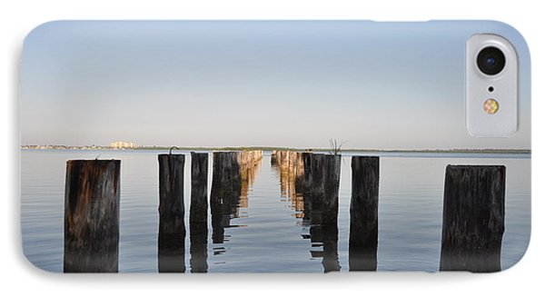Pilings From An Old Pier Phone Case by Bill Cannon