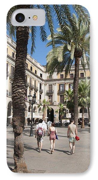 Placa Reial Barcelona Spain Phone Case by Matthias Hauser