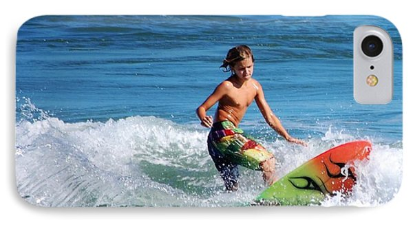 Playing In The Surf Phone Case by David Lane